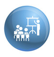 team work conference icon simple style vector image vector image