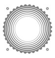 technical background with concentric circles vector image