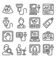 ultrasound diagnostic icons set on white vector image vector image