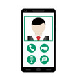 video call use smartphone vector image