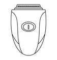 woman shaver icon outline style vector image vector image