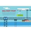 Sea transportation logistic port infographics vector image