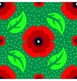 seamless pattern with red poppies vector image