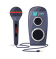 amplifier speaker and microphone concept music vector image vector image