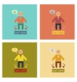 assembly flat icons gay lovers vector image vector image
