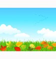 Autumn lawn vector image vector image
