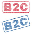 b2c textile stamps vector image vector image