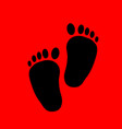 baby feet silhouette vector image vector image