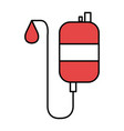 bag blood donation icon vector image vector image