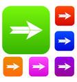 big arrow set collection vector image vector image