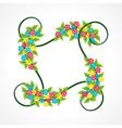 bouquet color flower leaf vintage stock vector image vector image