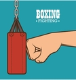 boxing punching bag isolated vector image vector image