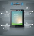 business infographic digital tablet icon vector image