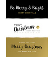 Christmas and new year gold lettering set vector image vector image