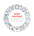 christmas new year banner vector image vector image