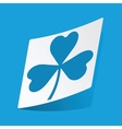 Clover sticker vector image vector image