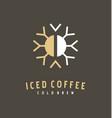 coffee bean and snowflake logo design idea vector image vector image
