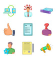 colloquium icons set cartoon style vector image vector image