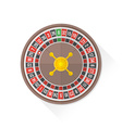 color playing roulette icon vector image vector image