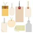 colored labels vector image