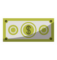 colorful silhouette of money bill icon without vector image vector image