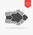Concept arrow icon Flat design gray color symbol vector image vector image
