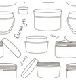 cream jar pattern vector image vector image