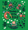 daddys little viking print for childrens clothing vector image vector image