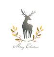 deer or reindeer silhouette romantic wreath vector image vector image