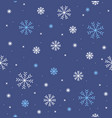 different winter snowflake seamless pattern vector image vector image