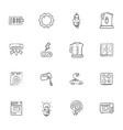 doodle appliances icons set vector image vector image