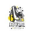 easter island logo template original design vector image vector image