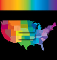 Equal USA rainbow vector image vector image