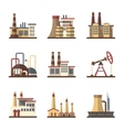 Factory industrial building and manufacturing vector image