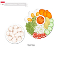 Gado Gado or Indonesian Salad with Peanut Dressing vector image vector image
