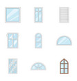 glass painting icons set cartoon style vector image vector image