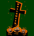 halloween holiday night party greeting card merry vector image vector image