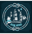 Hand Drawn Sea Background vector image
