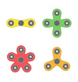 hand spinner toys set vector image vector image