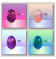 happy easter cards set - 3d easter eggs with the vector image