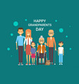happy grandparents day greeting card banner big vector image