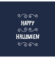 Happy Halloween card with hand lettering vector image