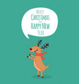 happy new year card santa s greetings vector image vector image