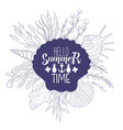 hello summer time banner template summer time vector image vector image
