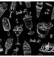 Icecream seamless chalkboard pattern vector image
