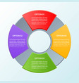 infographic template four options or workflow vector image vector image