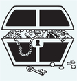 Jewellery and a box vector image vector image
