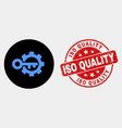 key options gear icon and distress iso vector image vector image