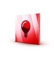 light bulb new idea concept web button vector image vector image