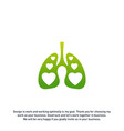 lungs love hearth logo concept health lungs logo vector image vector image